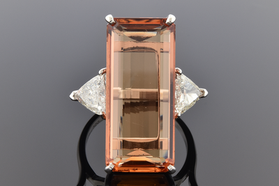 Precious Topaz and Diamond Ring
