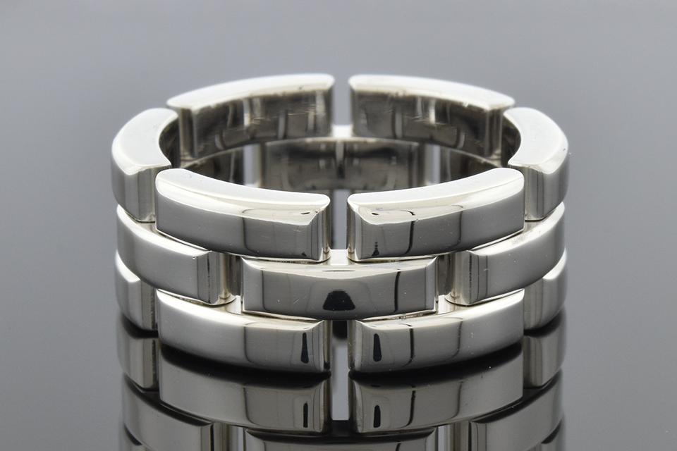 """Cartier """"Maillon Panthere"""" Three Row Band"""