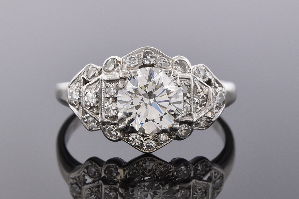Vintage Diamond Ring with Open Details