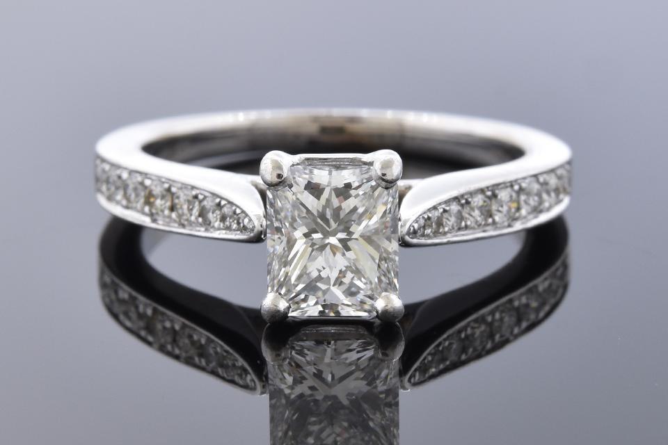 Colorless 1.03 Carat Diamond Engagement Ring