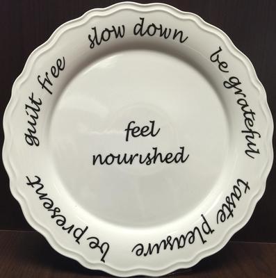 Mindful Eating Tableware  white porcelain dinner plate