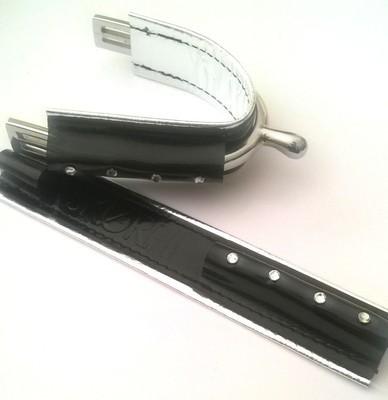 DUO Full noir vernis - ARGENT 4strass / Full Black Shiny - Silver