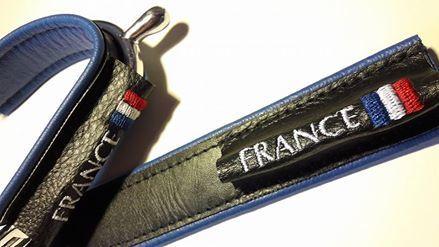 Duø Bleu roi- FRANCE + flag