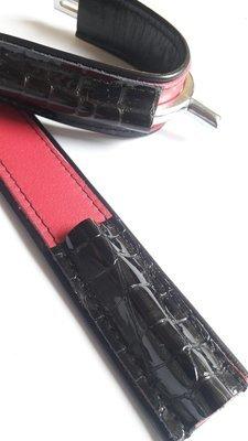 Duo bicolor Black/Pink -Croco