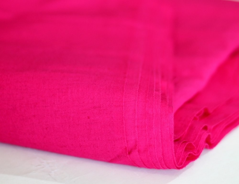 Solid Linen in Pink, Cream and Blue
