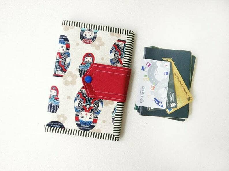 Matryoshka Handmade Family Travel Wallet
