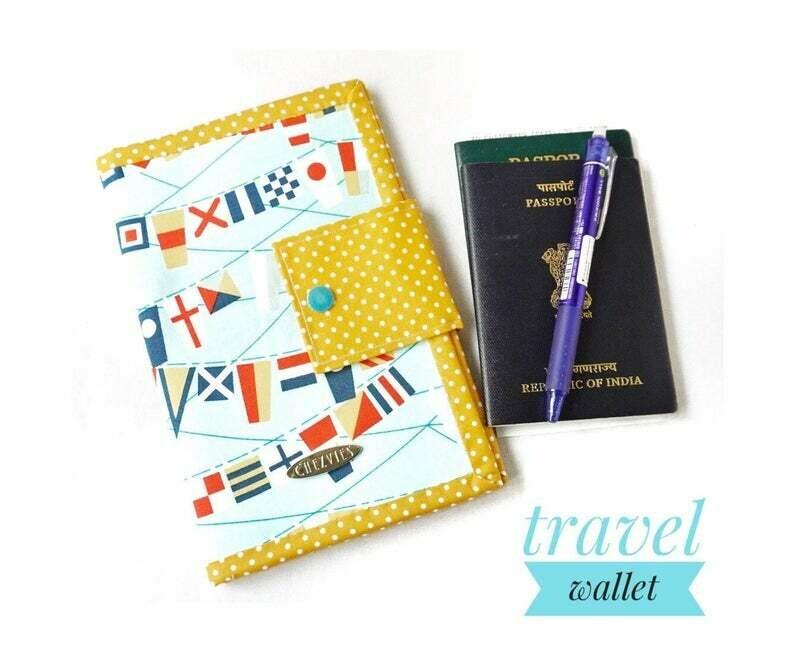 Country Flag Handmade Family Travel Wallet