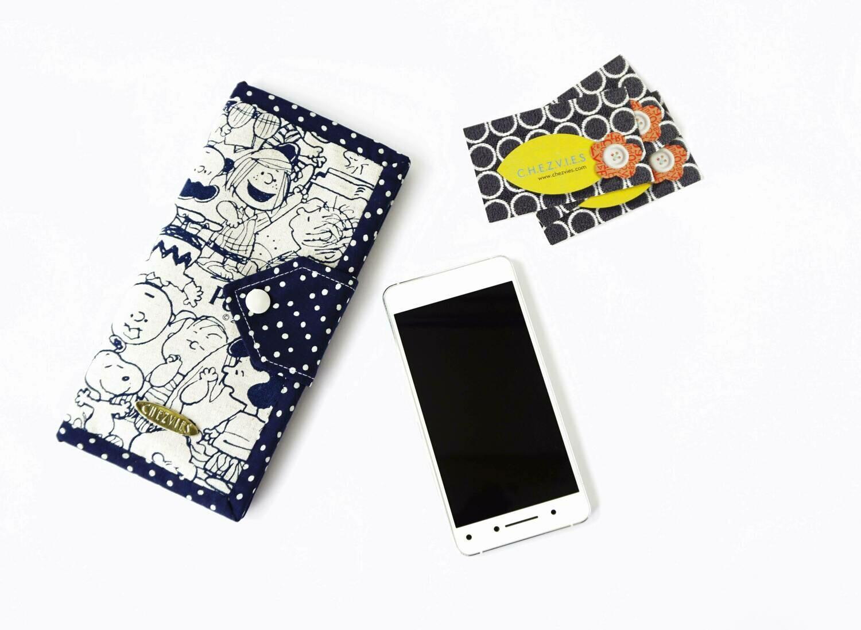 Blue Snoopy Handmade Wallet