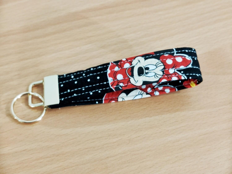 Keyfob Keyring Gold - minnie mouse