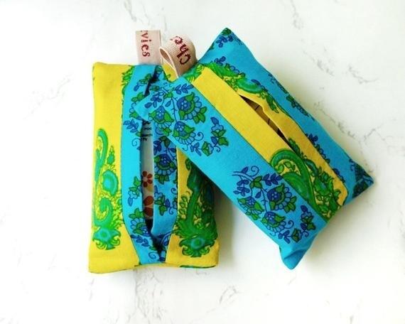 Vibrant Fabric Pocket Tissue Holder