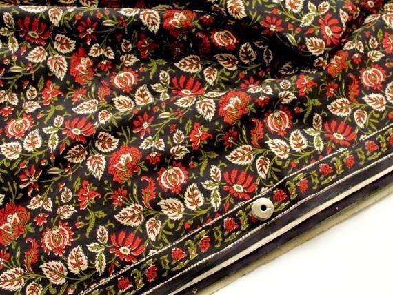 Small Floral Kalamkari Print Fabric