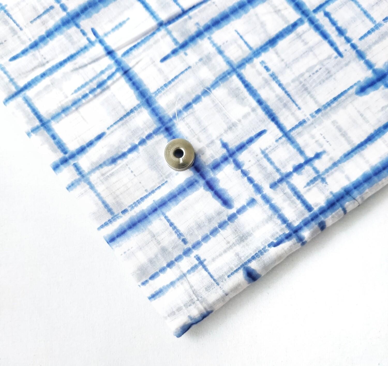 Blue Geometric Lightweight Cotton Fabric
