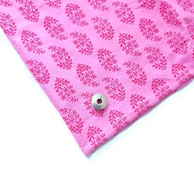 Floral Pink Cotton Fabric - 44 inch wide - sold by HALF METER