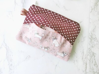 Cute Zipper Pouch with Tissue Holder