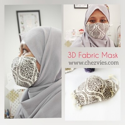 Pdf Pattern 3D Fitted Face Mask with Filter Pocket