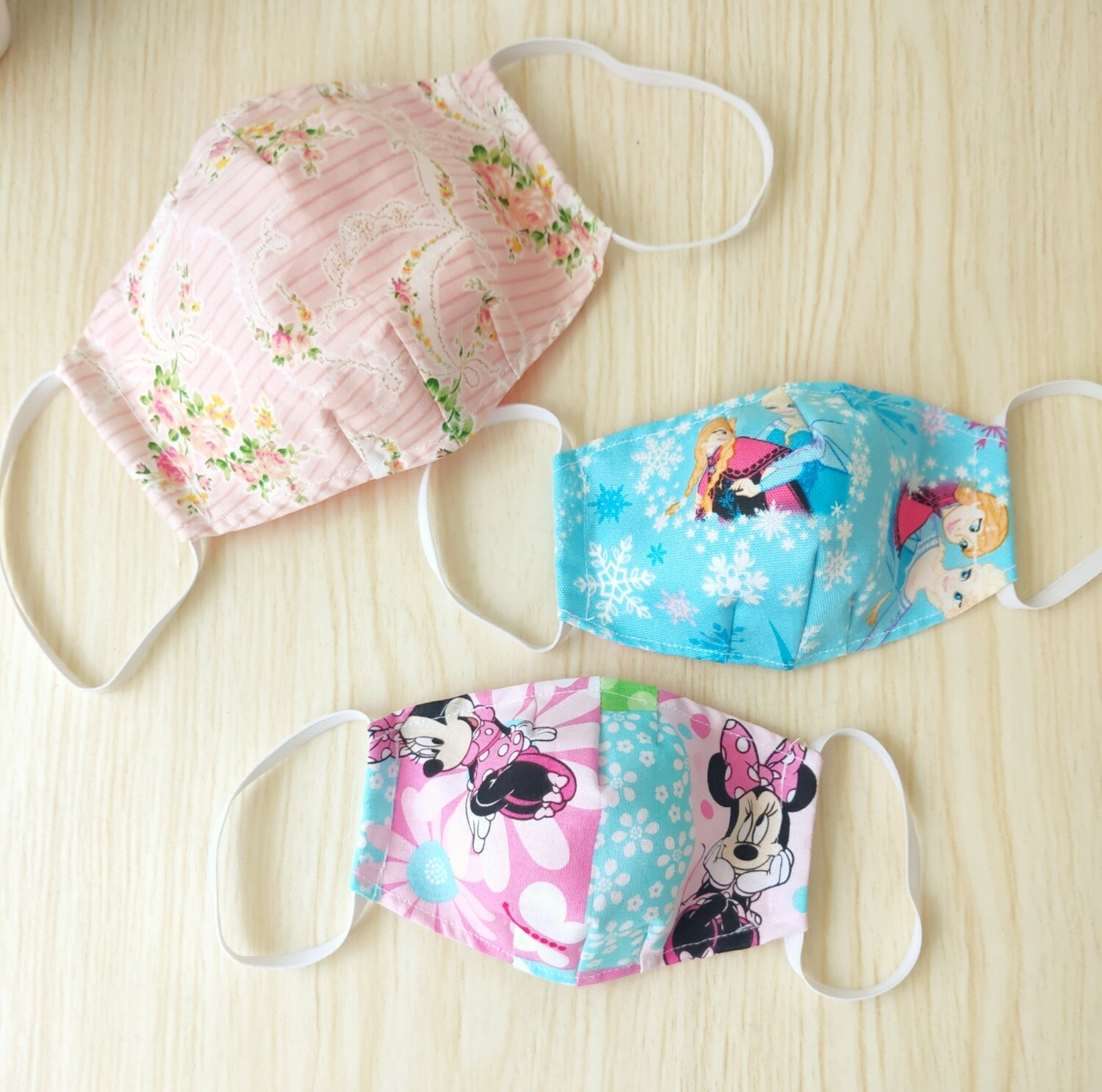 Girl Theme  Washable Reusable Cloth Mask With Filter Pocket  - set of 3 - Pre Order