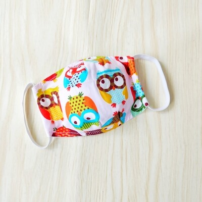 Mask for Kids - Pink Owl - Made to Order