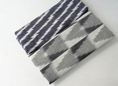 Grey Handloom Ikat  in 2 designs