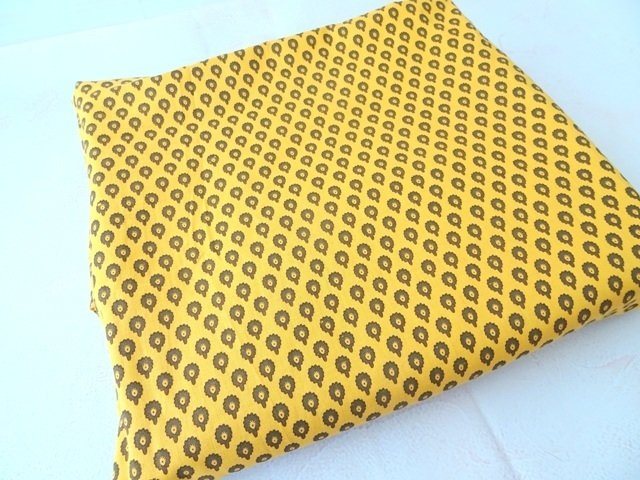 Yellow Mustard Indian cotton fabric,dress material