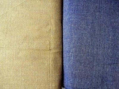 Solid jute burlap fabric in tan or blue color, plain burlap, natural color, indian fabric, crafting, sewing, DIY, half yard