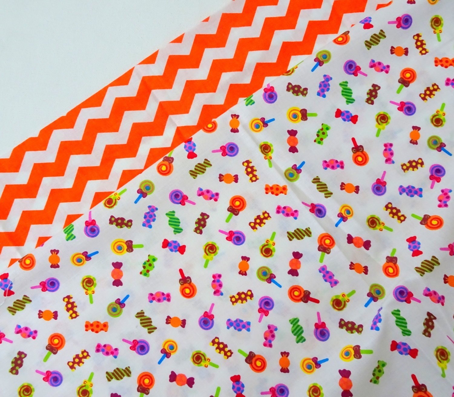 Orange Candy Polkadot Fat Quarter Duos