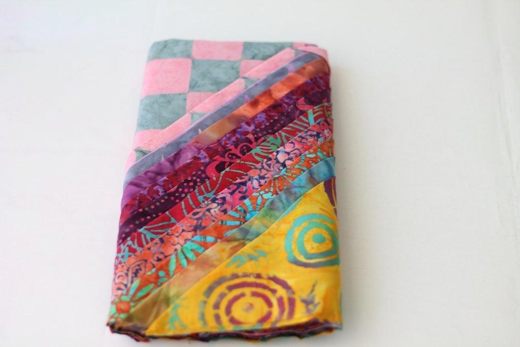 Mustard Pink Bali Batik Fat Quarter Quilting Fabric Bundle