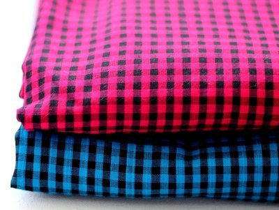 Small Check Handloom Cotton - 2 colors available