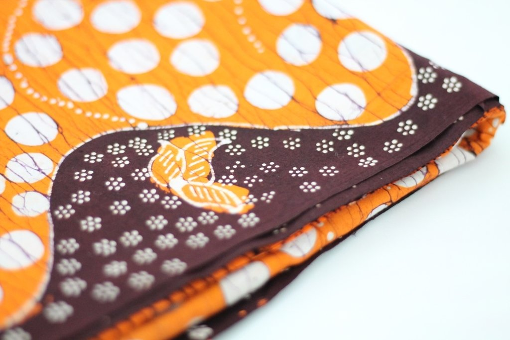 Orange Hand drawn batik madura - Indonesian Batik