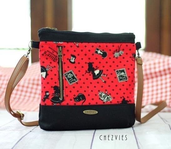Alice in Wonderland Handmade Travel Sling Bag
