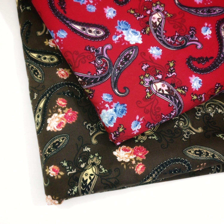 Paisley print cotton  fabric
