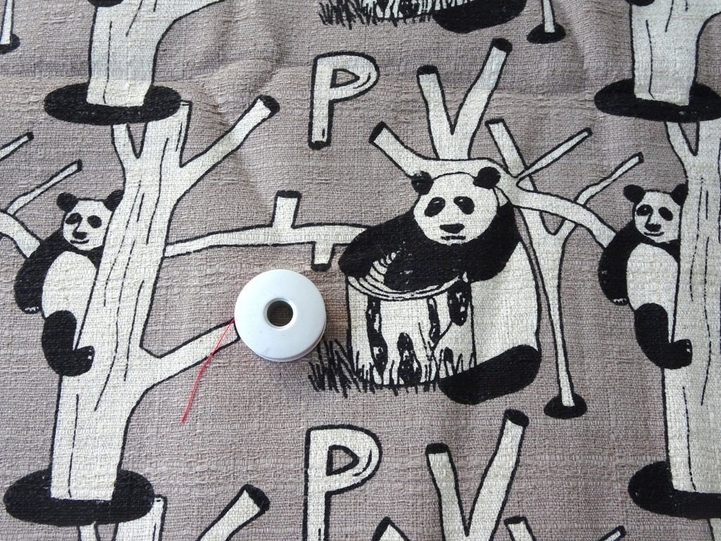 Panda Print  Japan  Linen Grey - Sold by Fat Quarter