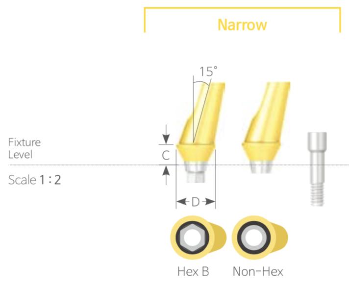 Bont Angulat Cimentabil Narrow HEX [Angled Abutment]
