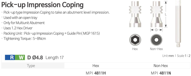 Multiunit Pick-up Impression Coping [Trasnfer Lingura Deschisa pentru Multiunit]