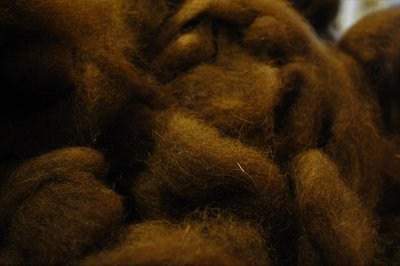 Breezy Hill Roving, bulk - Natural Brown