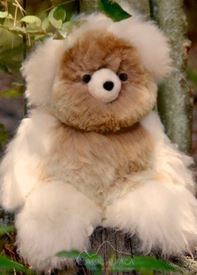 Alpaca Fur Toys - teddy bear, medium