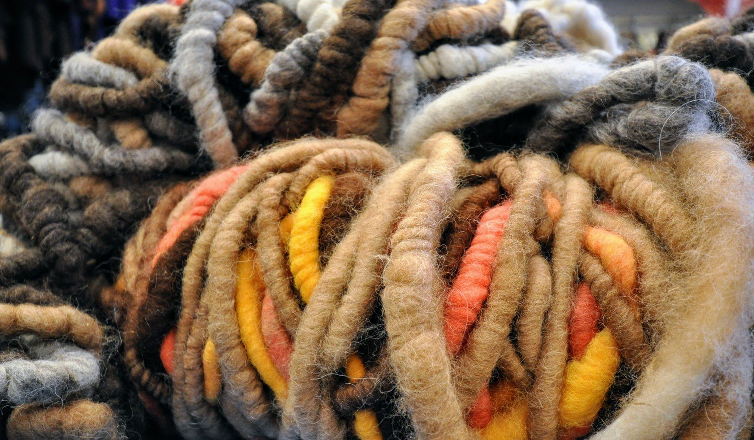 Breezy Hill Alpaca Rug Yarn - Variegated, Light Multi - small bale
