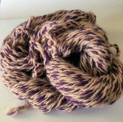 Breezy Hill Cottage-Milled, Hand-Dyed Yarn - Plum Ice