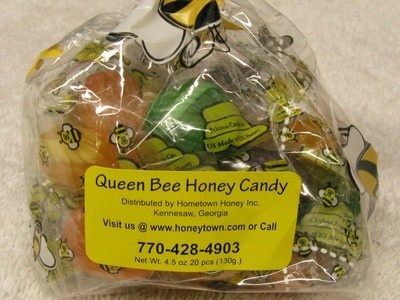 Queen Bee Honey Candy- 20pc per bag 4.5oz.