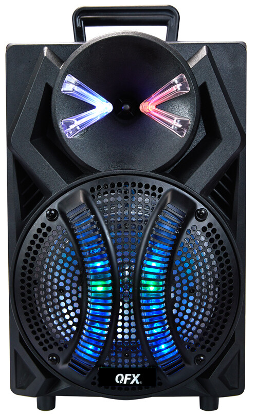 """QFX 8"""" PORTABLE PARTY SPEAKER WIRED MICROPHONE PBX-108"""