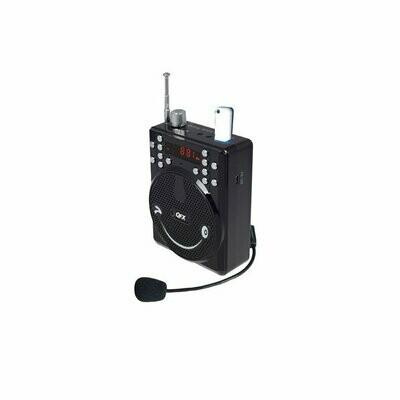 QFX BT-90 Portable PA System w/Bluetooth/FM/USB/MicroSD-In/Headset Mic