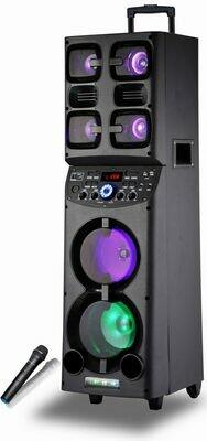 """Fully Amplified Portable 5000 Watts Peak Power 2 x 6.5"""" Speaker"""