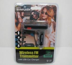 SF-77 Wireless Bluetooth FM Transmitter with USB Car Charger