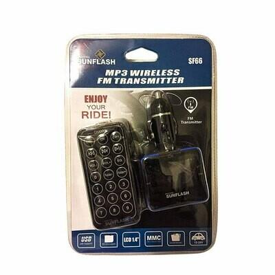DIGITAL SUNFLASH SF66 CAR AUDIO MP3 USB FM TRANSMIITTER 1.4