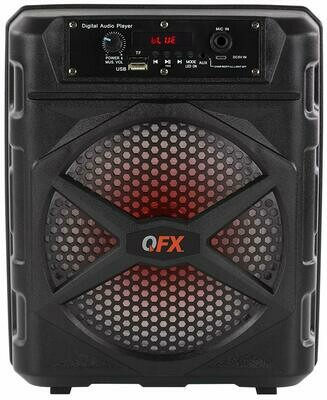 """QFX BT-85 TWS 8"""" Ready Rechargeable Party Speaker Bluetooth USB/Micro-SD FM Radio by QFX"""
