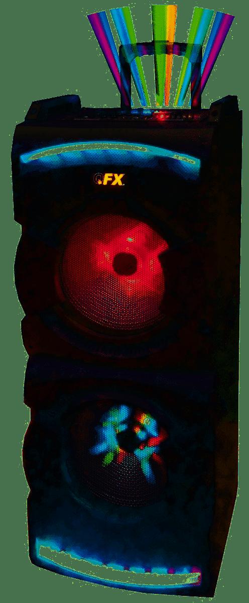 Qfx PBX-412208 2 x 12 Portable Bluetooth Party Speaker