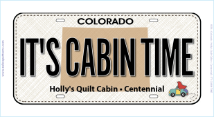It's Cabin Time License Plate
