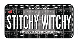 Stitchy Witchy License Plate