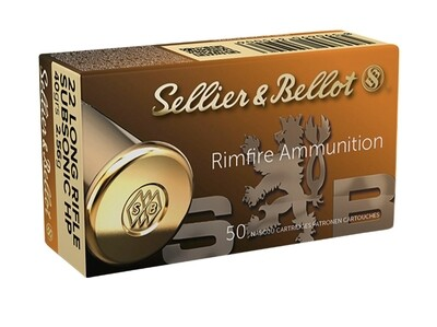 Sellier & Bellot 22 LR Subsonic HP 40 gr box of 50 rounds