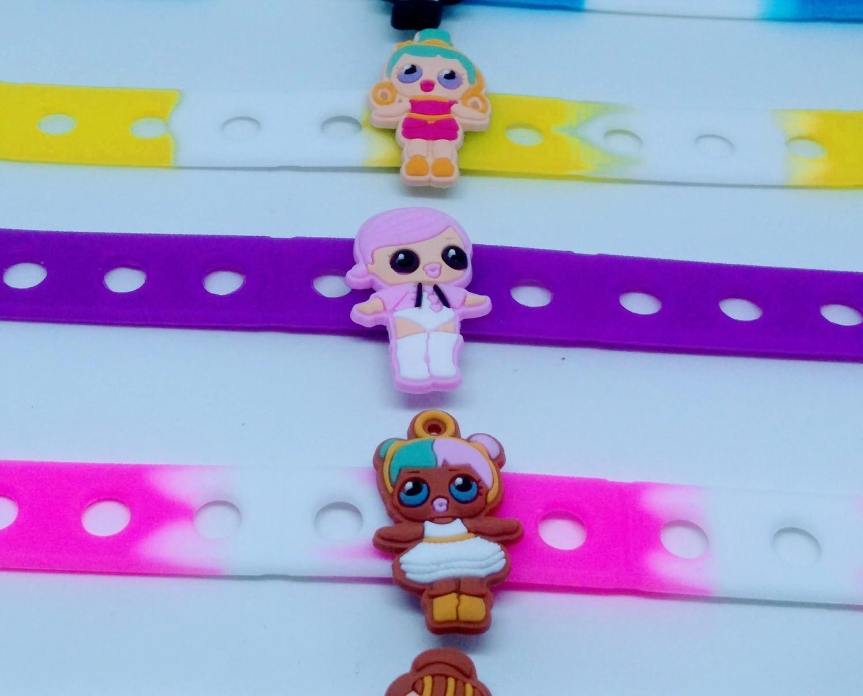 10 Braccialetti personalizzati LoL Surprise in 3D gomma silicone pvc morbido gadgets fine festa a tema compleanno bambini