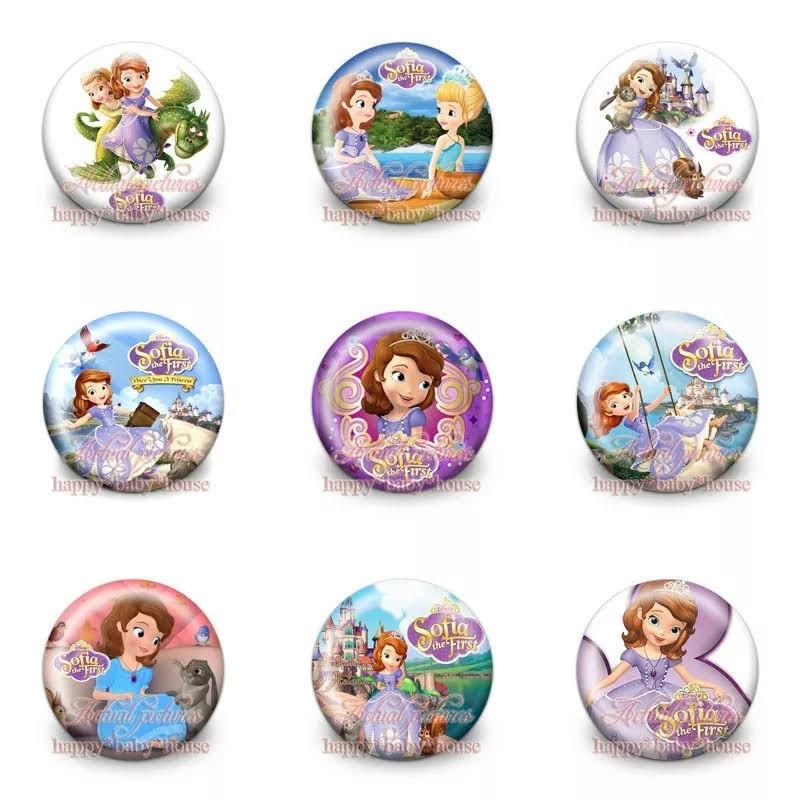 10 Spille 3cm zaino scuola personalizzate principessa Sofia Disney